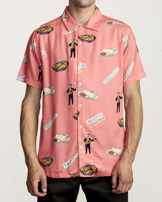 RVCA HOT FUDGE BUTTON UP