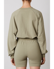 Load image into Gallery viewer, NIA CROPPED RAGLAN PULLOVER SAGE