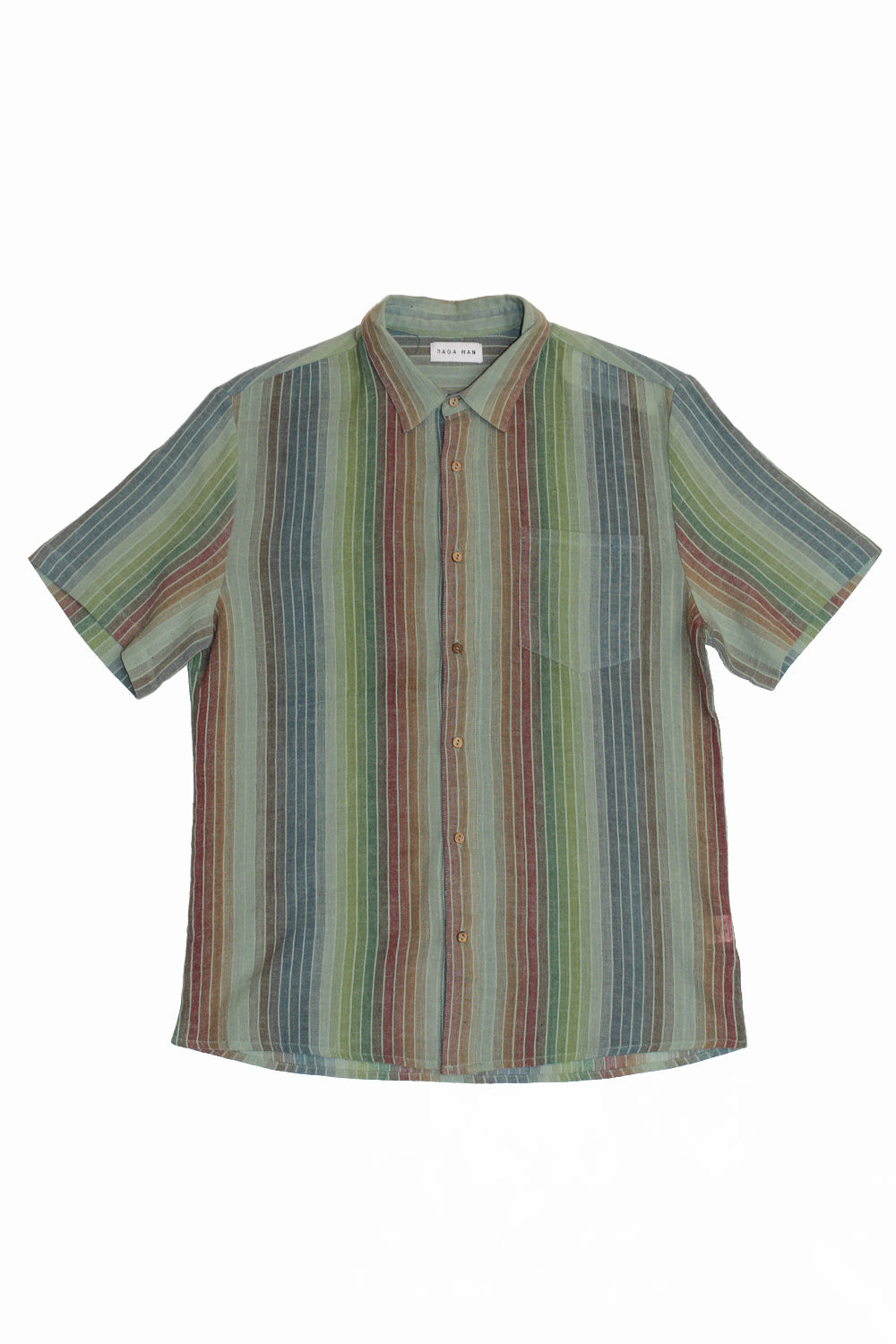 RAGA MAN LINEN SHORT SLEEVE BUTTON UP