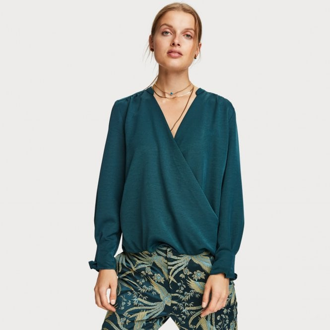 SCOTCH & SODA WRAPOVER BLOUSE