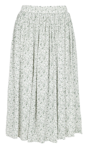 THE KORNER FLARED CREPE MIDI SKIRT