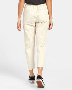 RVCA OUT GOING HIGH RISE CROPPED TROUSER