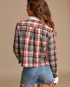 RVCA REX PLAID BUTTON UP SHIRT