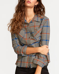 RVCA JORDAN PLAID BUTTON UP