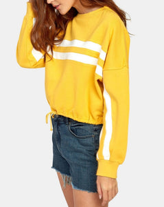 RVCA ACED FLEECE SWEATSHIRT AMBER