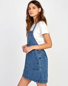 RVCA BOLT OUT DENIM DRESS