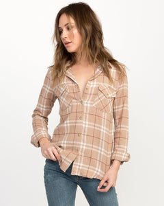 RVCA IN A HAZE PLAID FLANNEL