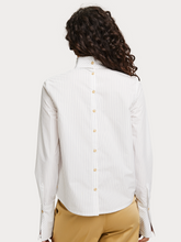 Load image into Gallery viewer, SCOTCH AND SODA STRIPED HIGH NECK BLOUSE