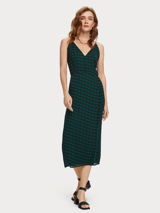 SCOTCH & SODA PRINTED CHIFFON DRESS