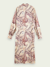 Load image into Gallery viewer, SCOTCH & SODA MARBLE HIGH NICK MIDI DRESS