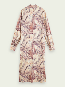 SCOTCH & SODA MARBLE HIGH NICK MIDI DRESS