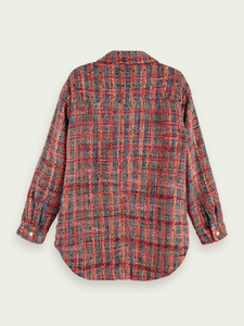 SCOTCH & SODA TWEED SHIRT JACKET