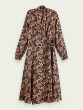Load image into Gallery viewer, SCOTCH & SODA FLORAL PRINT BELTED MIDI WRAP DRESS