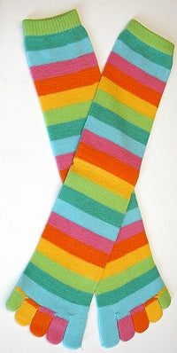 Women's Citrus Stripe Toe Socks Crew