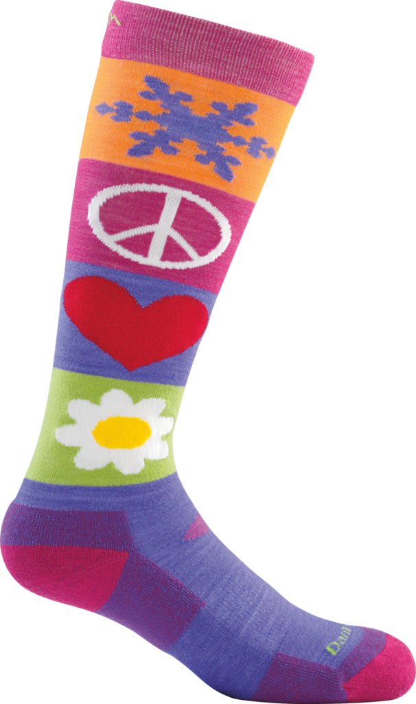 Kid's Peace Love Snow Cushion Knee High