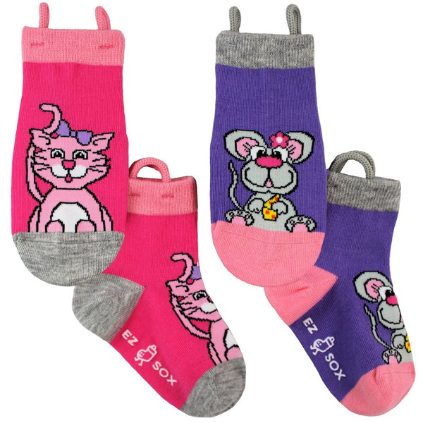 Kid's Kitty-Mouse Crew (2 Pack)