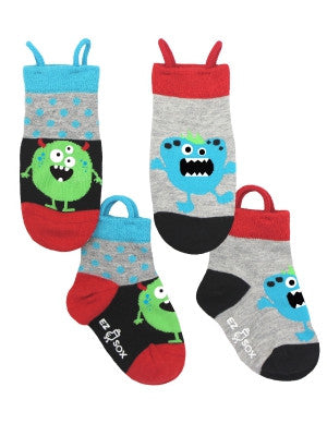 Kid's Monster Polkadots Crew (2 Pack)