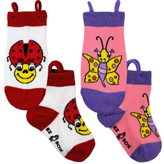 Kid's Ladybug-Butterfly Crew (2 Pack)