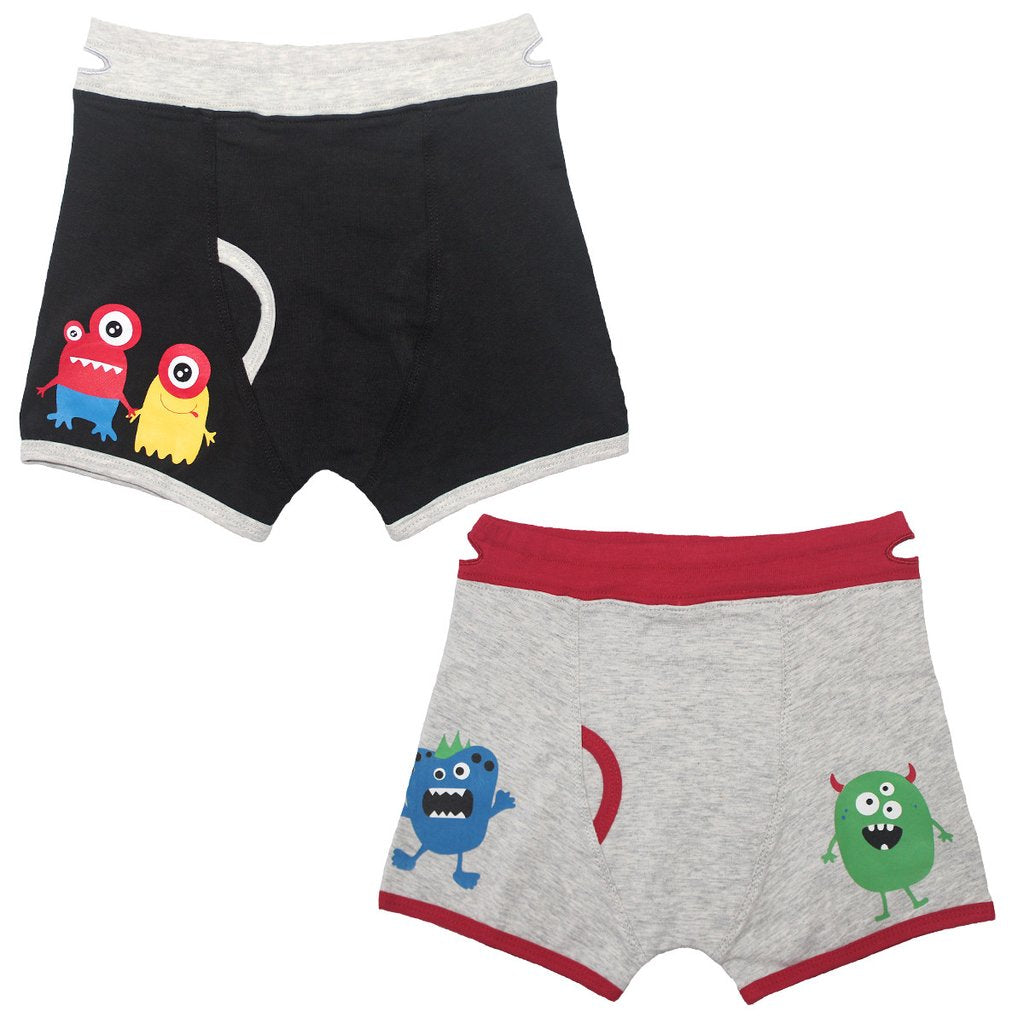 Boy's Monsters Boxer Briefs (2 Pack)