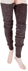 Women's Super Long Cable Knit Leg Warmers