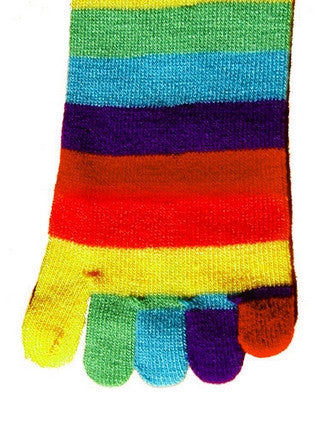 Women's Rainbow Toe Socks Crew
