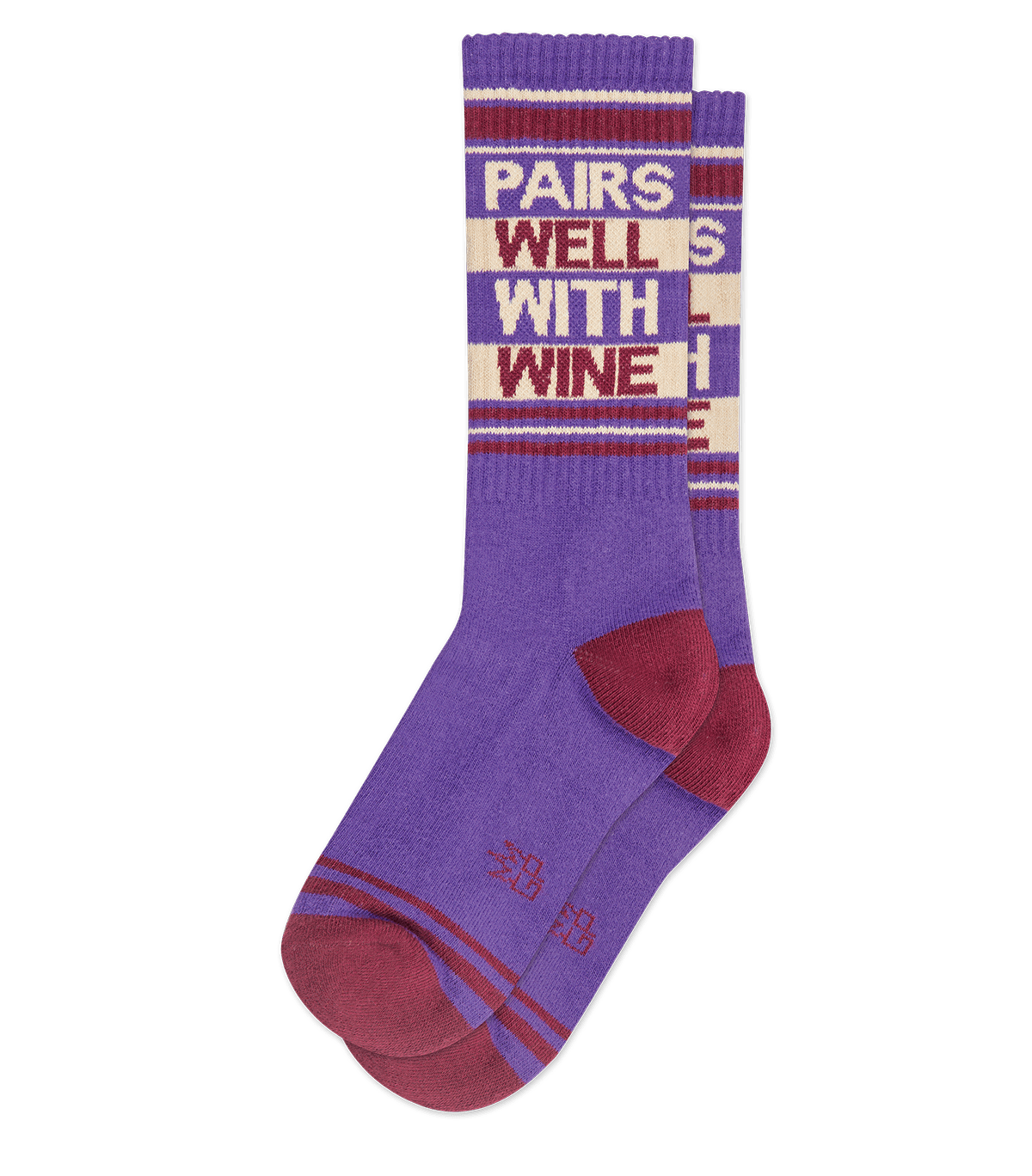 Pairs Well With Wine Ribbed Gym Crew