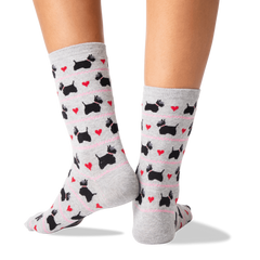 Women's Scottie Dogs And Hearts Crew
