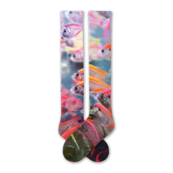Women's Fish 360 Print Knee High