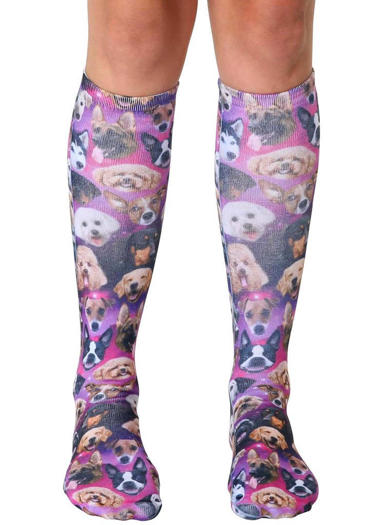 Galaxy Puppy Knee High