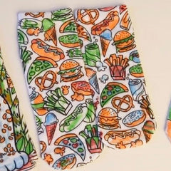 Color-in Snack Attack Ankle Socks