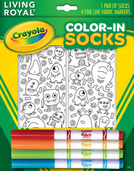 Color-In Monster Party Ankle