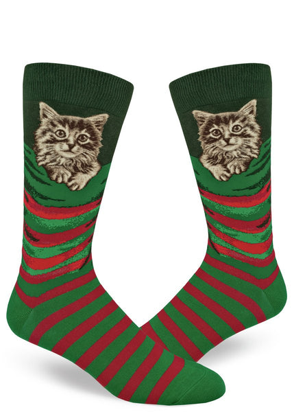 Men's Christmas Kitten Crew