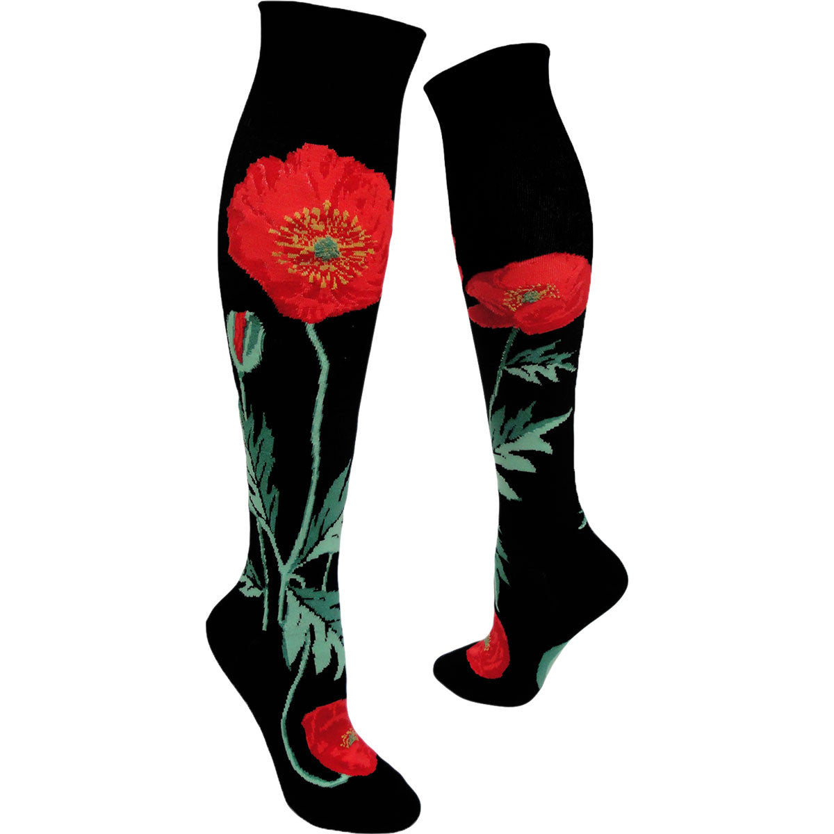 Women's Bold Poppies Knee High