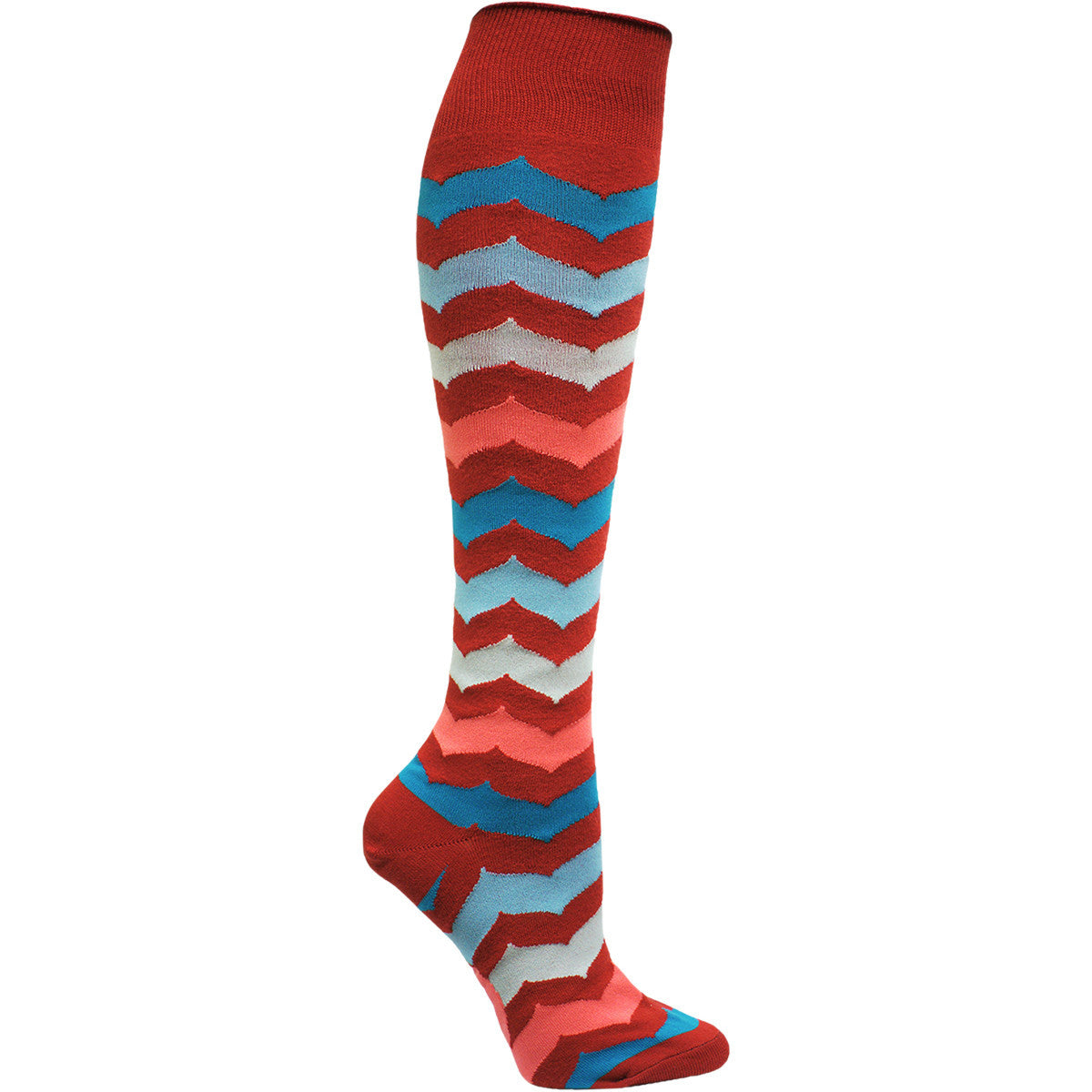 Women's Curved Chevron Knee High