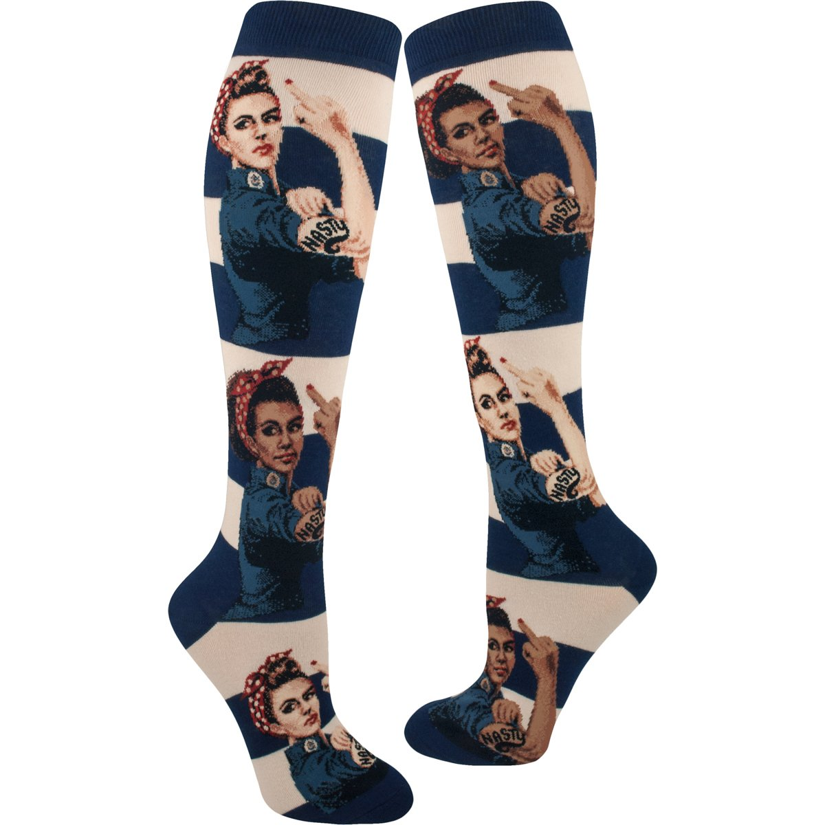 Women's Nasty Rosie The Riveter Knee High