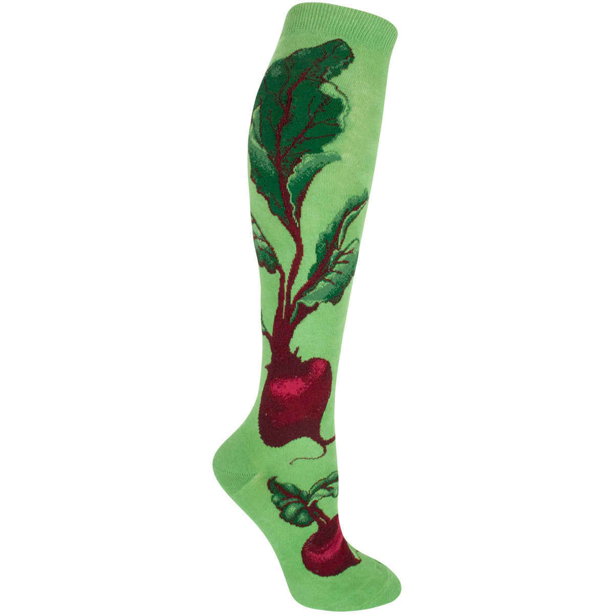 Women's Red Beets Knee High