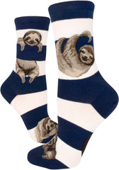 Women's Sloth Stripe Crew