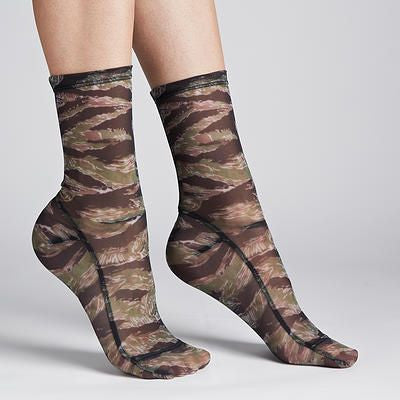 Women's Printed Trouser Camo Knee High