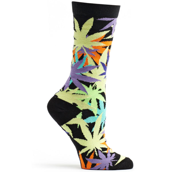 Women's Laced Weed Crew