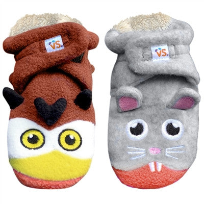 Kid's Owl vs. Mouse Booties