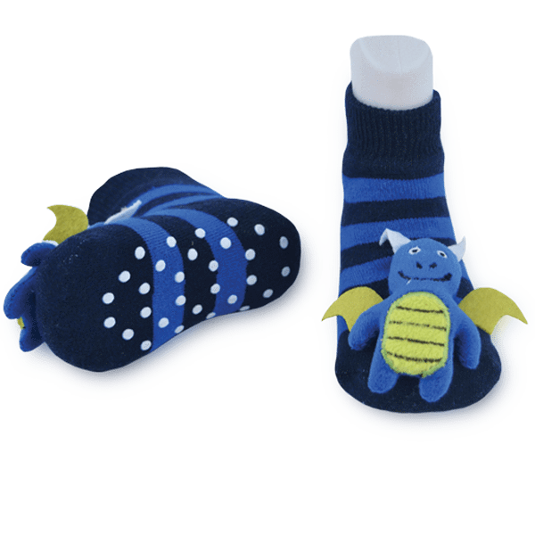 Kid's Blue Dragon Boogie Toes Rattle Crew