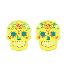 Shwings Sugar Skull - Yellow Neon