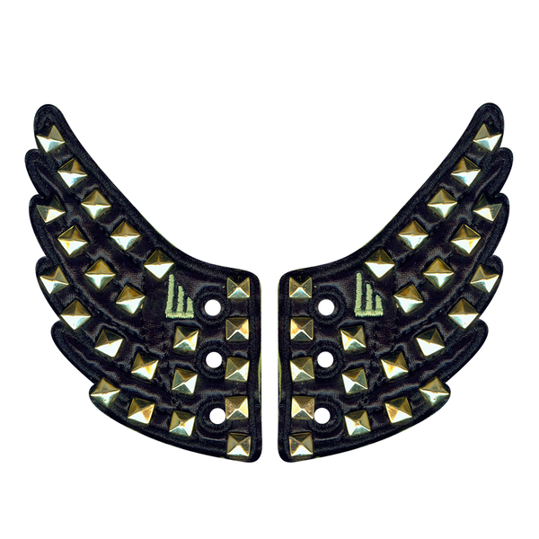 Shwings Foil Square Copper Nail Wings - Black
