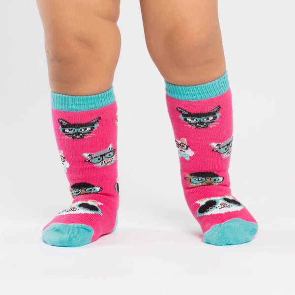 SALE - Toddler's Smarty Cats Knee High