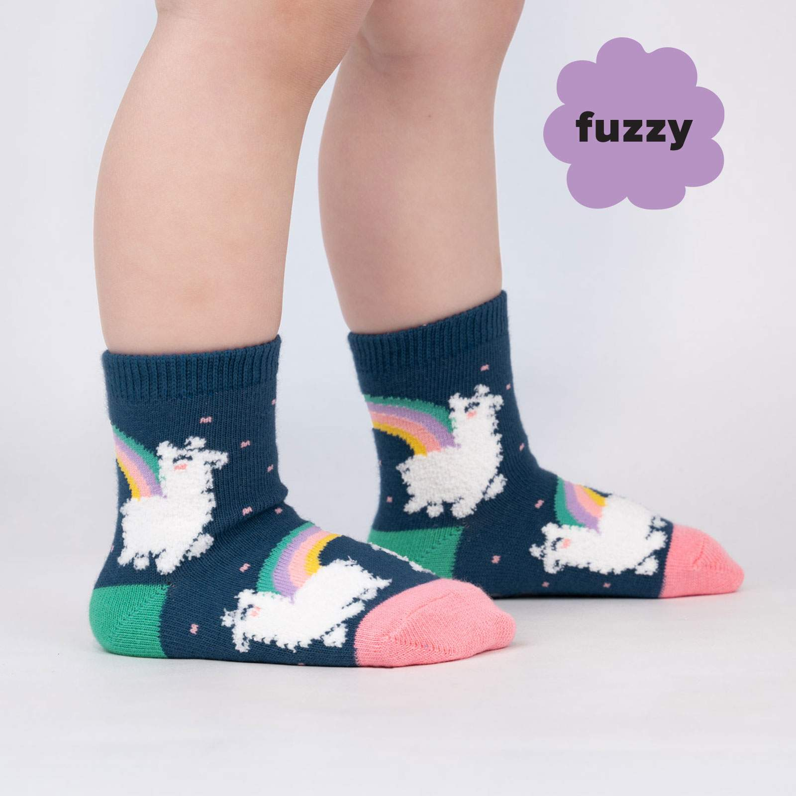 Toddler's Fuzzy Llam-where Over The Rainbow Crew