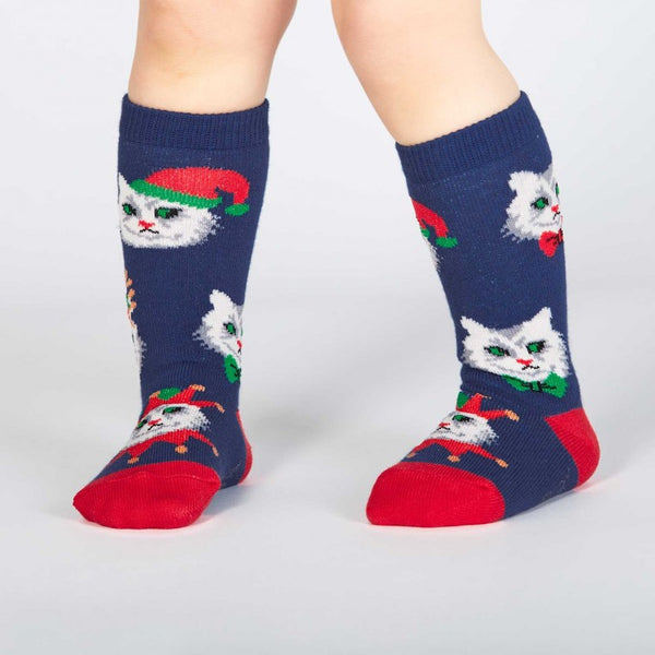 SALE - Toddler's Santa Claws Knee High