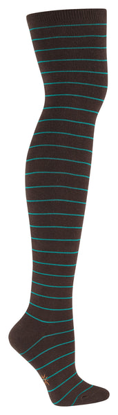 Women's Brown & Teal Over The Knee