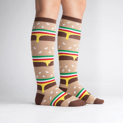 Women's Double Double Cheeseburger Knee High