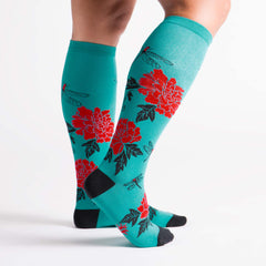 Women's Peonies Knee High
