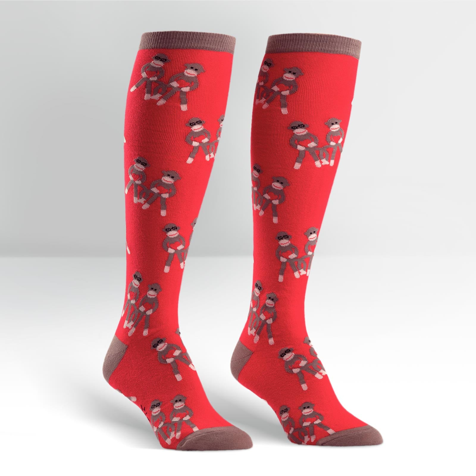 Women's Sock Monkey Love Knee High